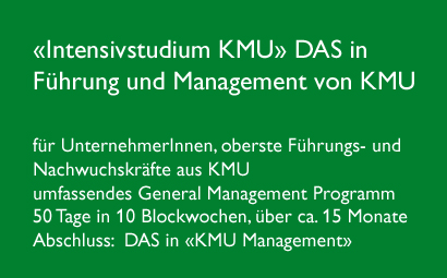 Intensivstudium KMU