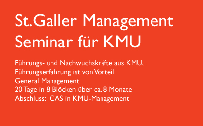 St.Galler Management Seminar für KMU
