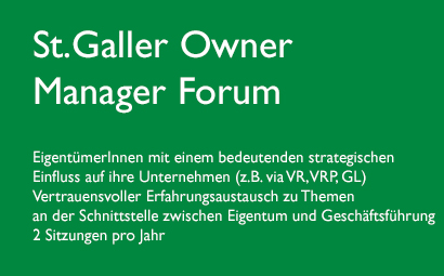 St.Galler Owner Manager Forum