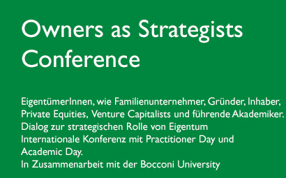 Owners as Strategists Conference deutsch
